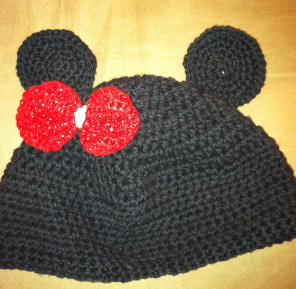 Knitted Minnie Mouse Hat Pattern : Minnie Mouse Knit Babies Hat on Luulla
